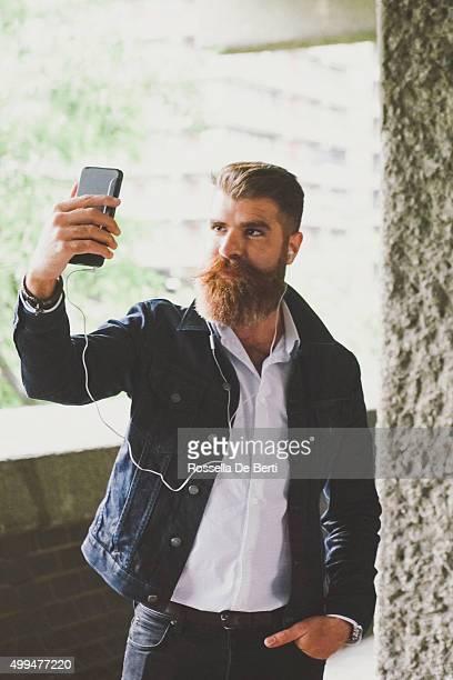 Businessman In London Taking Selfie