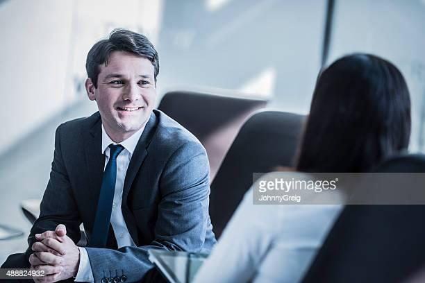 にお仕事仲間とのミーティング、ビジネスマン