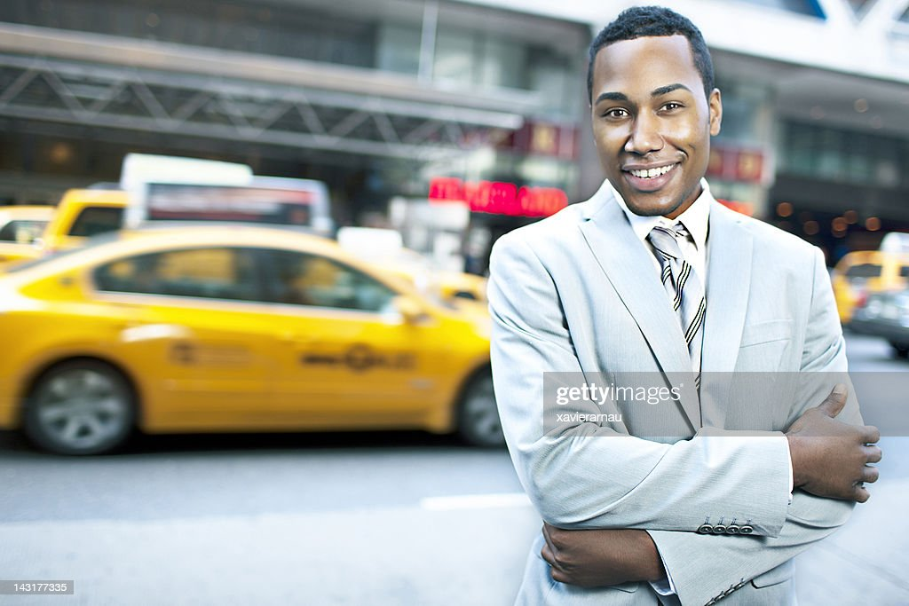 Businessman in New York : Stock Photo