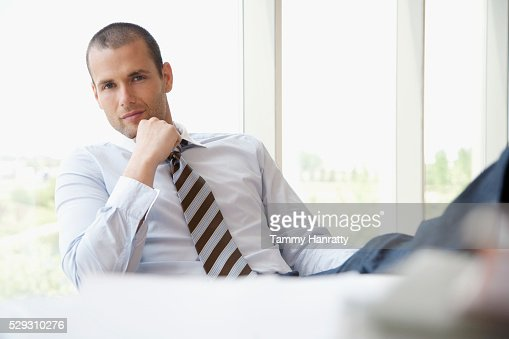 Businessman in office : Bildbanksbilder