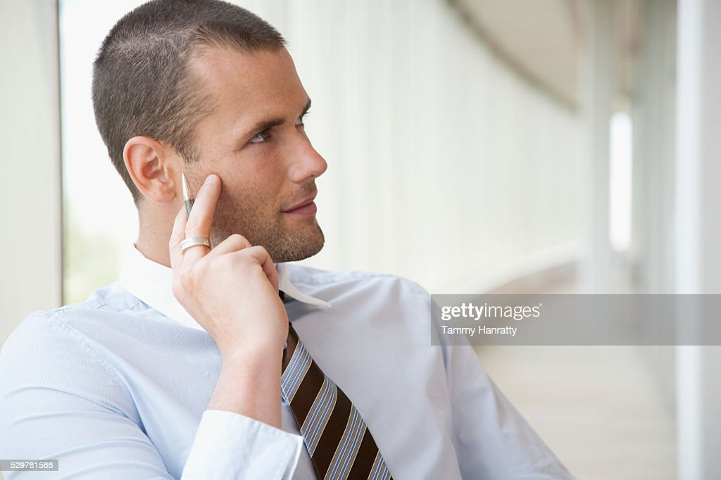 Businessman in office : Stockfoto