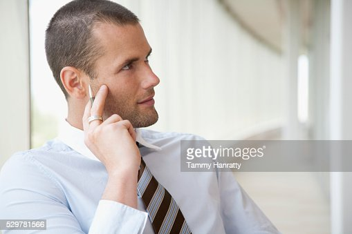 Businessman in office : Stock-Foto