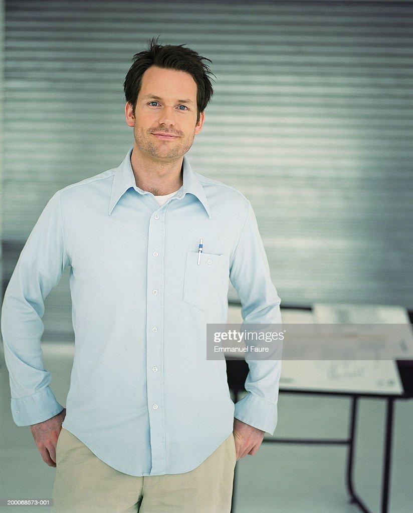 Businessman in office, portrait : Stock Photo