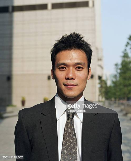Businessman in street, portrait