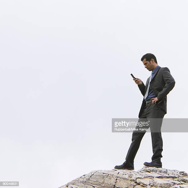 businessman in the wilderness