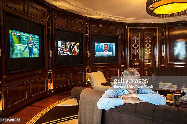 Businessman investor philanthropist and the owner of AS Monaco FC Dmitry Rybolovlev is photographed at his home for Paris Match on November 8 2013 in...