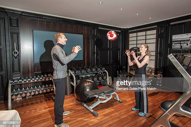 Businessman investor philanthropist and the owner of AS Monaco FC Dmitry Rybolovlev is photographed at his home with his daughter Ekaterina for Paris...