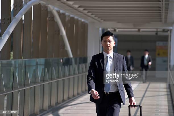 businessman is walking