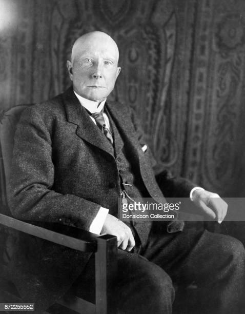 Businessman John D Rockefeller poses for a portrait in 1909