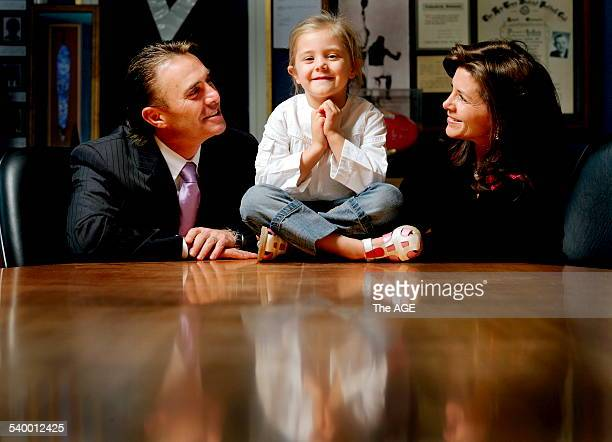 Businessman John Ilhan and wife Patricia Ilhan with their five year old daughter Jaida who suffers from food allergies 8 May 2006 THE AGE NEWS...