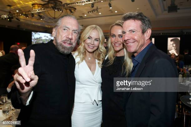 Businessman John Paul DeJoria Eloise Broady Santa Auzina and actor Dennis Quaid attend Muhammad Ali's Celebrity Fight Night XXIII at the JW Marriott...