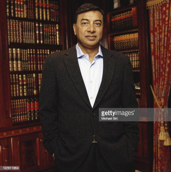 Businessman Lakshmi Mittal poses for a portrait shoot in London UK