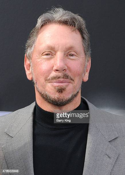 Businessman Larry Ellison arrives at the Los Angeles premiere of 'Terminator Genisys' at the Dolby Theatre on June 28 2015 in Hollywood California