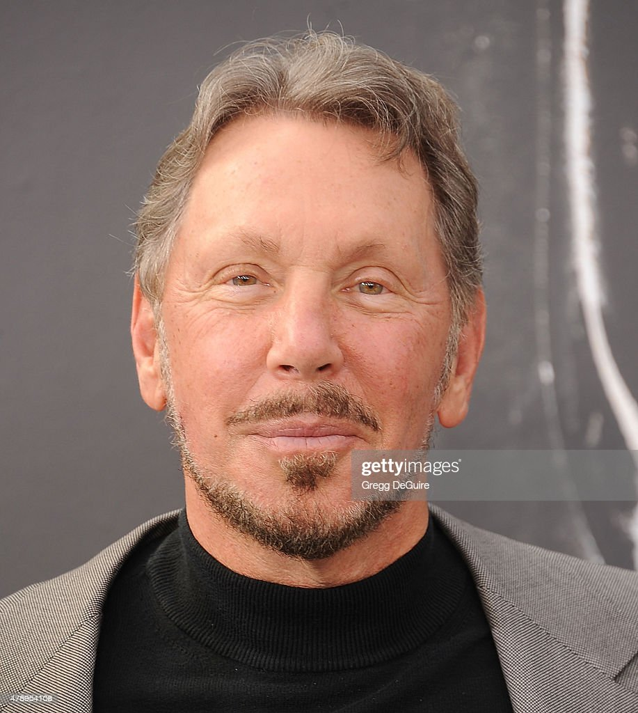 Businessman <a gi-track='captionPersonalityLinkClicked' href=/galleries/search?phrase=Larry+Ellison&family=editorial&specificpeople=221302 ng-click='$event.stopPropagation()'>Larry Ellison</a> arrives at the Los Angeles premiere of 'Terminator Genisys' at Dolby Theatre on June 28, 2015 in Hollywood, California.