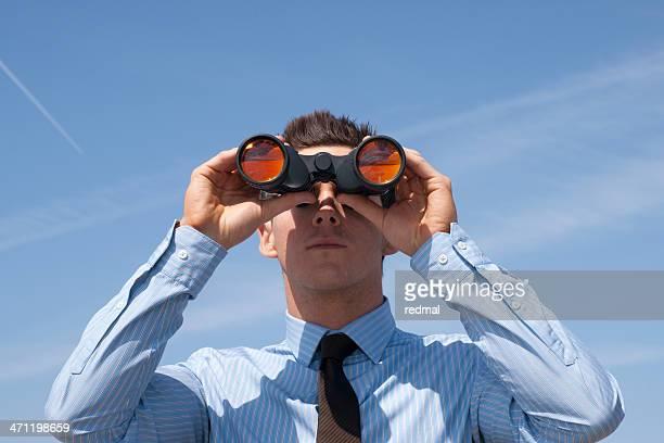 businessman looking ahead