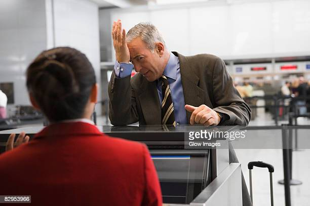 Businessman looking angry