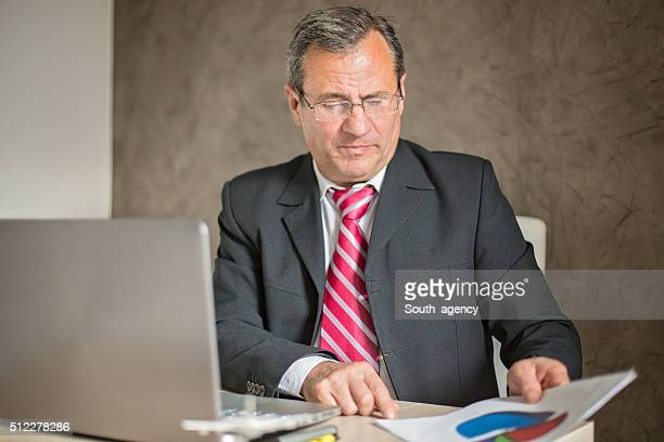 Businessman Looking At Document