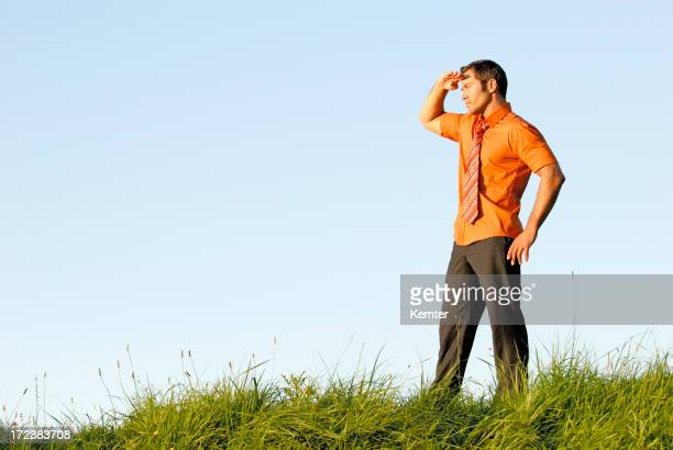 businessman looking in the distence