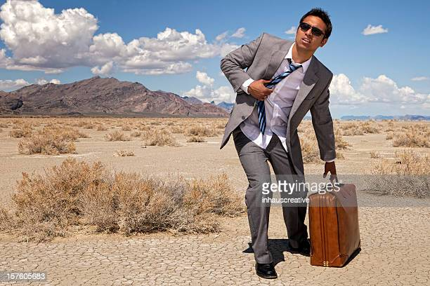 Businessman Lost In The Desert