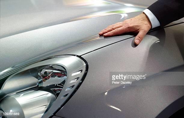 Businessman loves his car