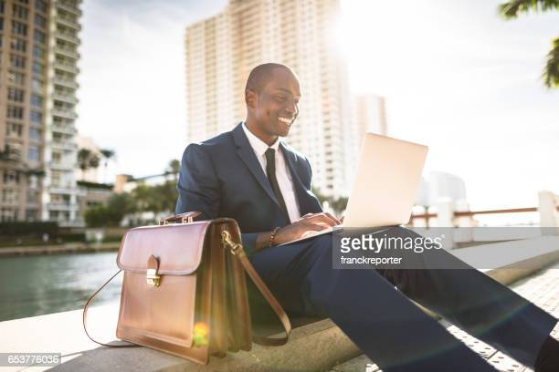 businessman make a phone call in miami