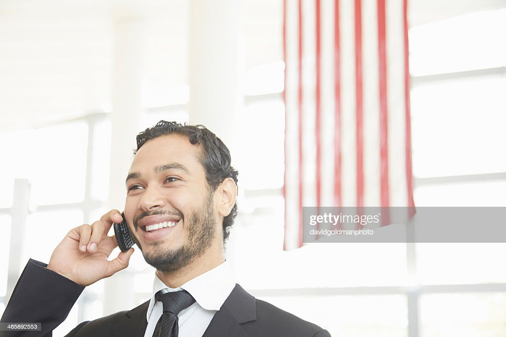 Businessman making phonecall : Stock Photo