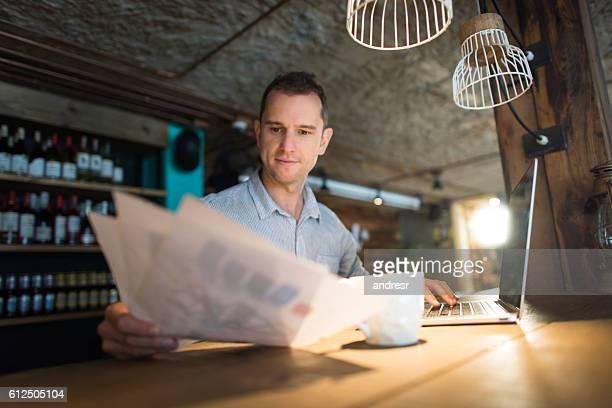 Businessman managing a restaurant