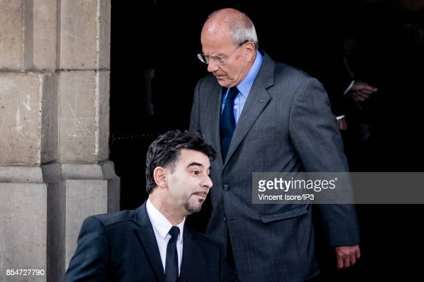 Businessman Marc Ladreit de Lacharriere attends the Liliane Bettencourt's funeral organized at the Saint Pierre Church on September 26 2017 in...