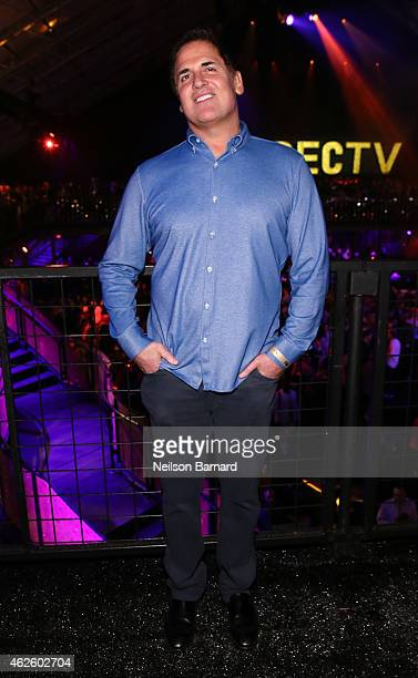 Businessman Mark Cuban attends DirecTV Super Saturday Night hosted by Mark Cuban's AXS TV and Pro Football Hall of Famer Michael Strahan at...