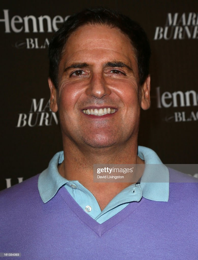 Businessman Mark Cuban attends the Hennessy Toasts Achievements In Music event with GRAMMY Host LL Cool J and Mark Burnett at The Bazaar at the SLS Hotel Beverly Hills on February 9, 2013 in Los Angeles, California.