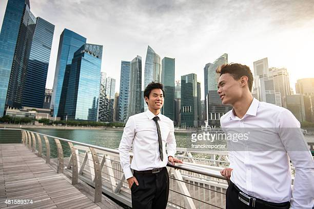 businessman meeting on the city of Singapore