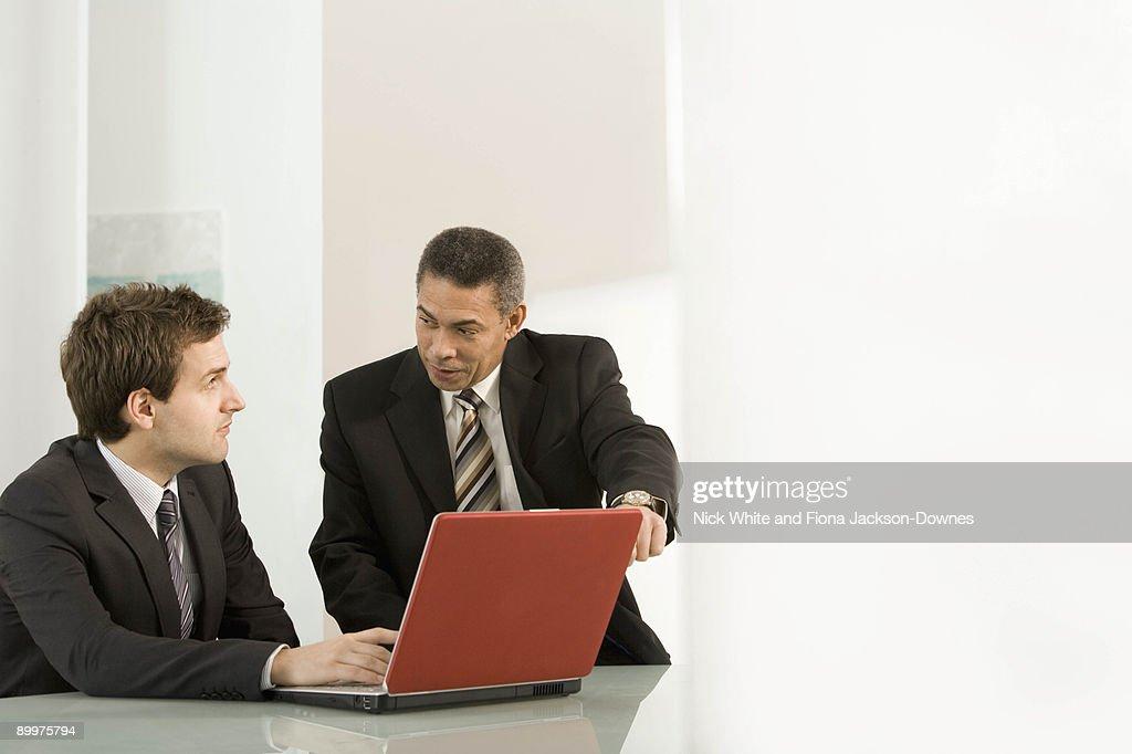A businessman mentoring