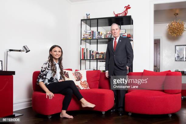 Businessman Michael Bloomberg and daugther Georgina Bloomberg are photographed for London Sunday Times on April 27 2017 in New York City