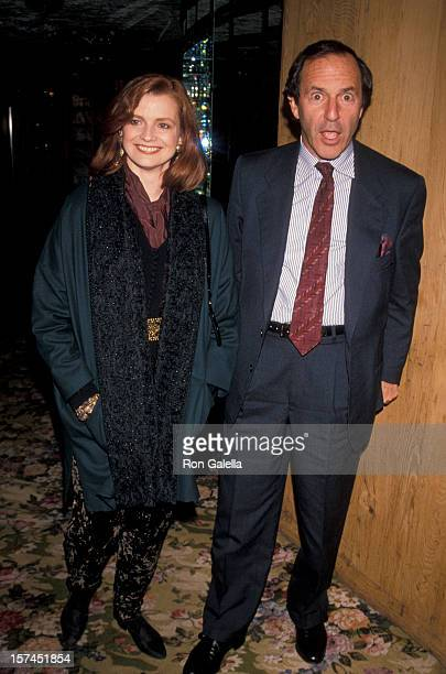 Businessman Mort Zuckerman and Blair Brown attending the premiere party for 'Six Degrees Of Seperation' on November 8 1990 at Tavern on the Green in...