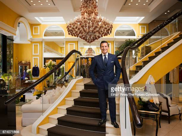 Businessman Nicolas Bijan is photographed for Forbes Magazine on March 14 2017 in the Bijan store on Rodeo Drive in Beverly Hills California Pictured...