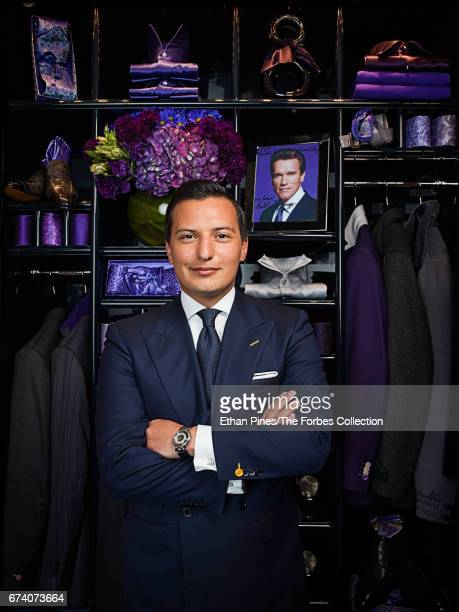 Businessman Nicolas Bijan is photographed for Forbes Magazine on March 14 2007 in the Bijan store on Rodeo Drive in Beverly Hills California Pictured...