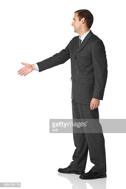 Businessman offering handshake