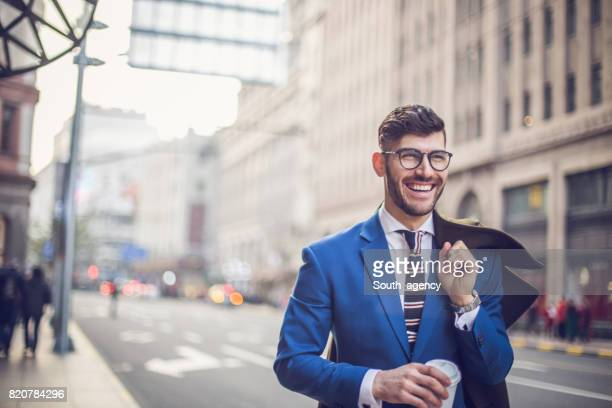 Businessman on a coffee break
