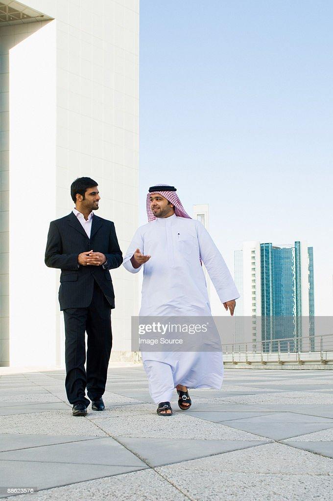 Businessman on a skyscraper