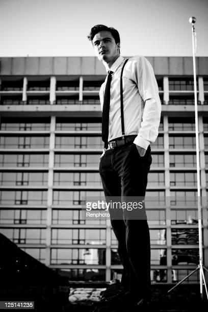 Geschäftsmann auf dem Dach