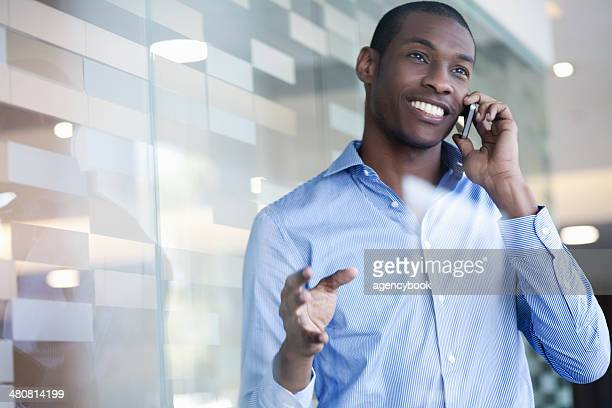 Businessman on telephone call