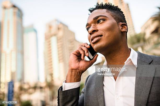 Businessman on the phone dubai marina