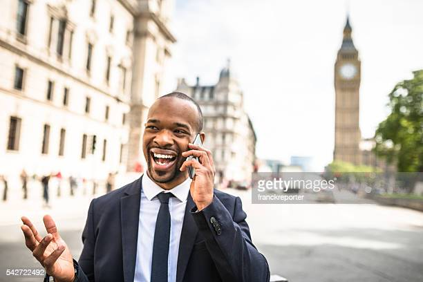 Businessman on the phone in London