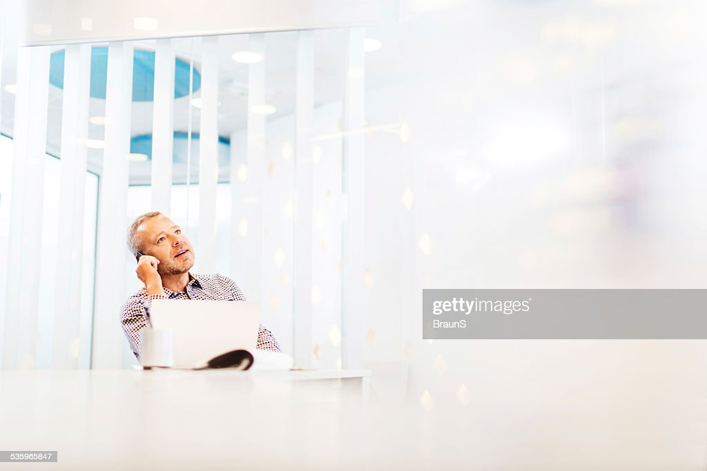 Businessman on the phone in office. : Stock Photo