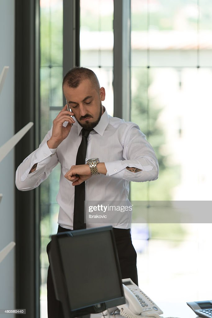 Businessman On The Phone : Stock Photo