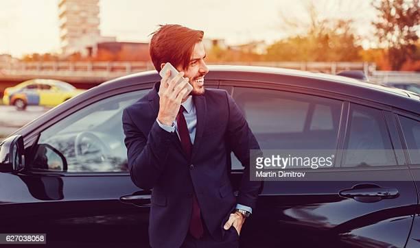 Geschäftsmann am Telefon