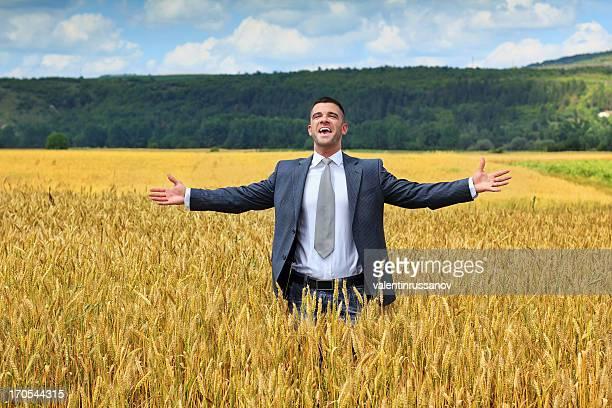 Businessman outside  harvest