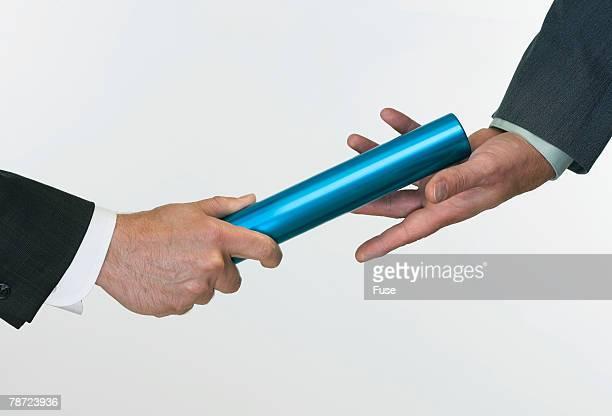 Businessman Passing the Baton