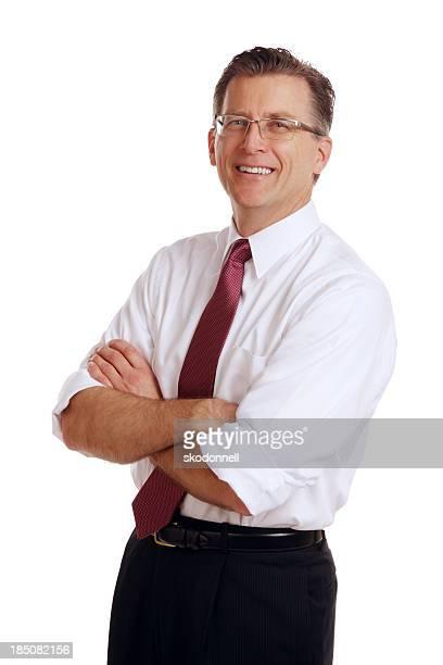 Geschäftsmann Portait auf Weiß