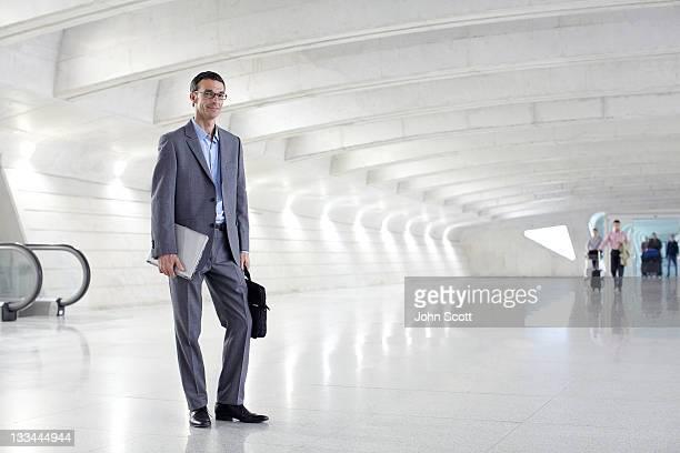 Businessman portrait at an airport